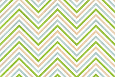 Watercolor beige, green and blue stripes background, chevron. Abstract watercolor background with beige, green and blue stripes on white background stock illustration