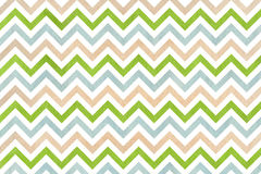 Watercolor beige, green and blue stripes background, chevron. Stock Photos