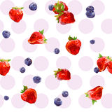 Watercolor berries Stock Images