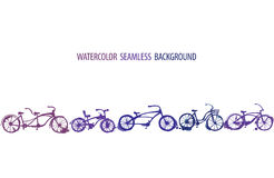 Watercolor bicycle background Stock Image