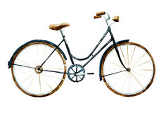 Watercolor bike Royalty Free Stock Photography