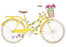 Watercolor bike bicycle vector illustration
