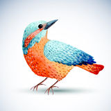 Watercolor bird  on white background. Royalty Free Stock Photo