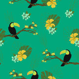 Watercolor birds. Seamless background Royalty Free Stock Image