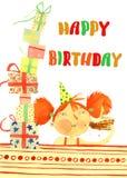Watercolor birthday girl Royalty Free Stock Photos