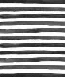 Watercolor black stripes background Stock Photos