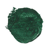 Watercolor blob. Green watercolor blob, isolated on white royalty free stock image