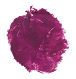 Watercolor blob. Purple watercolor blob, isolated on white stock photography