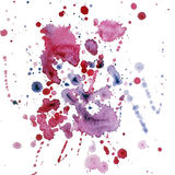 Watercolor blob raster 3. A watercolor complexly shaped blob stock illustration