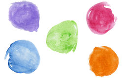 Watercolor blobs Stock Photography