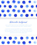 Watercolor blobs background Royalty Free Stock Images