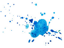 Watercolor blobs Stock Image