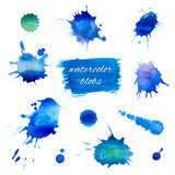 Watercolor blobs set Stock Images