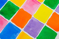 Watercolor Blocks Stock Images