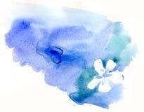 Watercolor blot vector illustration