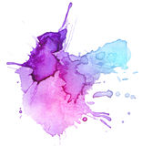 Watercolor blot background Stock Photography