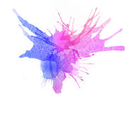 Watercolor blot background, raster illustration Stock Image