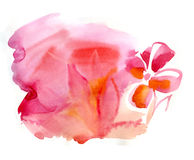 Watercolor blot, beautiful background. In red Royalty Free Stock Photo