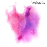 Watercolor blot. Hand drawn blot on white background for your design. Save the Date, postcard, banner, logo Stock Photo
