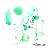 Watercolor blot. Hand drawn blot on white background for your design. Save the Date, postcard, banner, logo Royalty Free Stock Photos