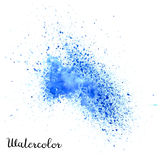 Watercolor blot. Hand drawn blot on white background for your design. Save the Date, postcard, banner, logo Stock Image