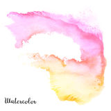 Watercolor blot. Hand drawn blot on white background for your design. Save the Date, postcard, banner, logo Stock Images