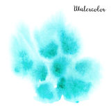Watercolor blot. Hand drawn blot on white background for your design. Save the Date, postcard, banner, logo Stock Photos