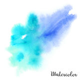 Watercolor blot. Hand drawn blot on white background for your design. Save the Date, postcard, banner, logo Stock Photography