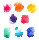 Watercolor blot set Royalty Free Stock Images