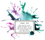 Watercolor Blot with Text. Stock Images