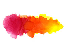 Watercolor blotches stock images