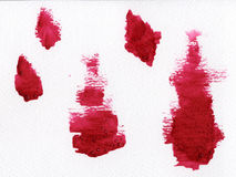 Watercolor blotches Stock Photography