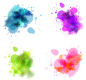 Watercolor blots Stock Images