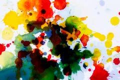 Watercolor blots background stock illustration