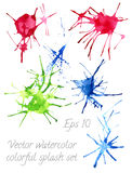 Watercolor blots and splashes Stock Photo