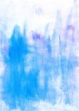 Watercolor blue abstract backdrop Stock Photos