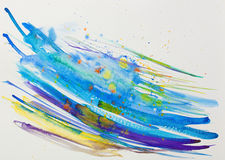 Watercolor Blue Abstract Background Royalty Free Stock Photo