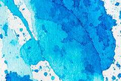 Watercolor blue abstract background Stock Image