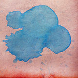 Watercolor blue abstract background paint color Royalty Free Stock Images