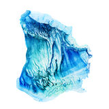 Watercolor Blue Abstract Blob Royalty Free Stock Photos
