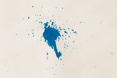 Watercolor blue abstract splash Stock Photo