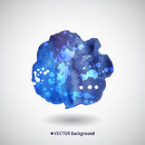 Watercolor blue background with blots Stock Photography