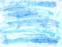 Watercolor blue background. Watercolor handmade blue background, watercolor paint backgorund stock illustration