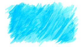 Watercolor blue brush strokes background design isolated Stock Photos