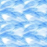 Watercolor blue brushstrokes, seamless pattern Stock Photo