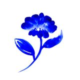 Watercolor blue flower Royalty Free Stock Photos