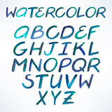 Watercolor blue font Royalty Free Stock Photography