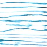 Watercolor blue free hand lines background. Free hand drawn watercolor lines stock illustration