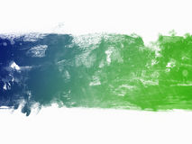 Watercolor blue and green border Stock Image