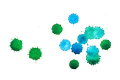 Paper texture for copy space. Watercolor blue and green spots on a white background. Banner for text royalty free stock image